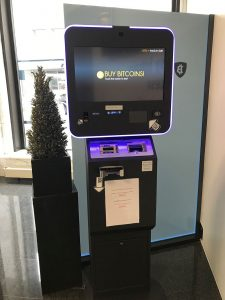 Bitcoin Automat in der Falcon Private Bank Ltd. in Zürich